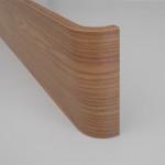 Particolare pannello curvato in legno