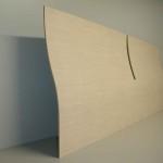Testiera letto curva in legno